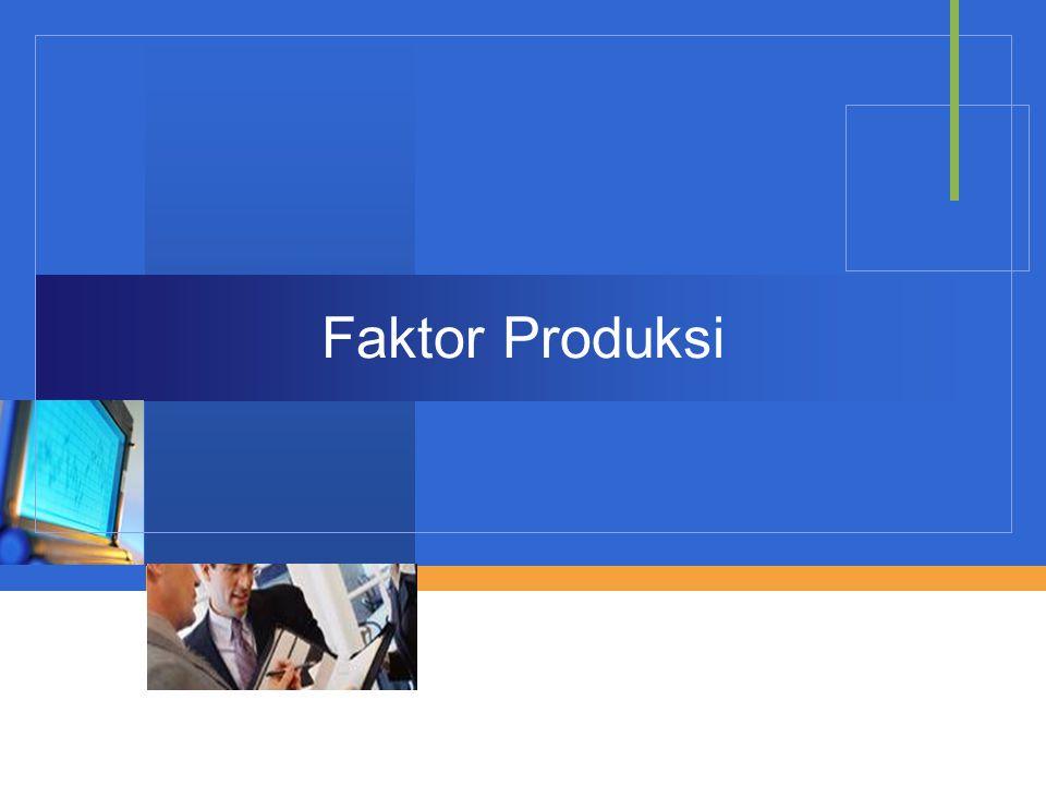 Company LOGO Faktor Produksi