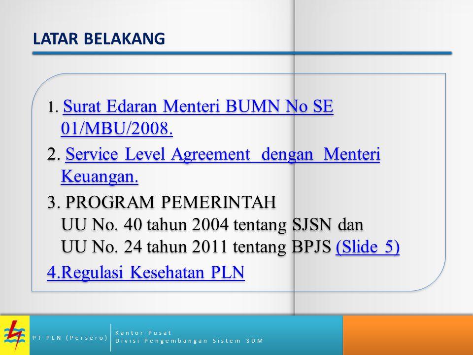 Kantor Pusat Divisi Pengembangan Sistem SDM PT PLN (Persero) 1. Surat Edaran Menteri BUMN No SE 01/MBU/2008. Surat Edaran Menteri BUMN No SE 01/MBU/20