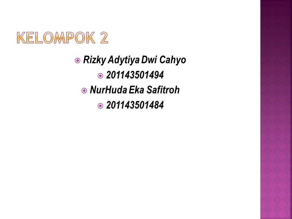  Rizky Adytiya Dwi Cahyo  201143501494  NurHuda Eka Safitroh  201143501484