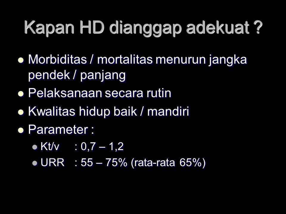 Kapan HD dianggap adekuat .