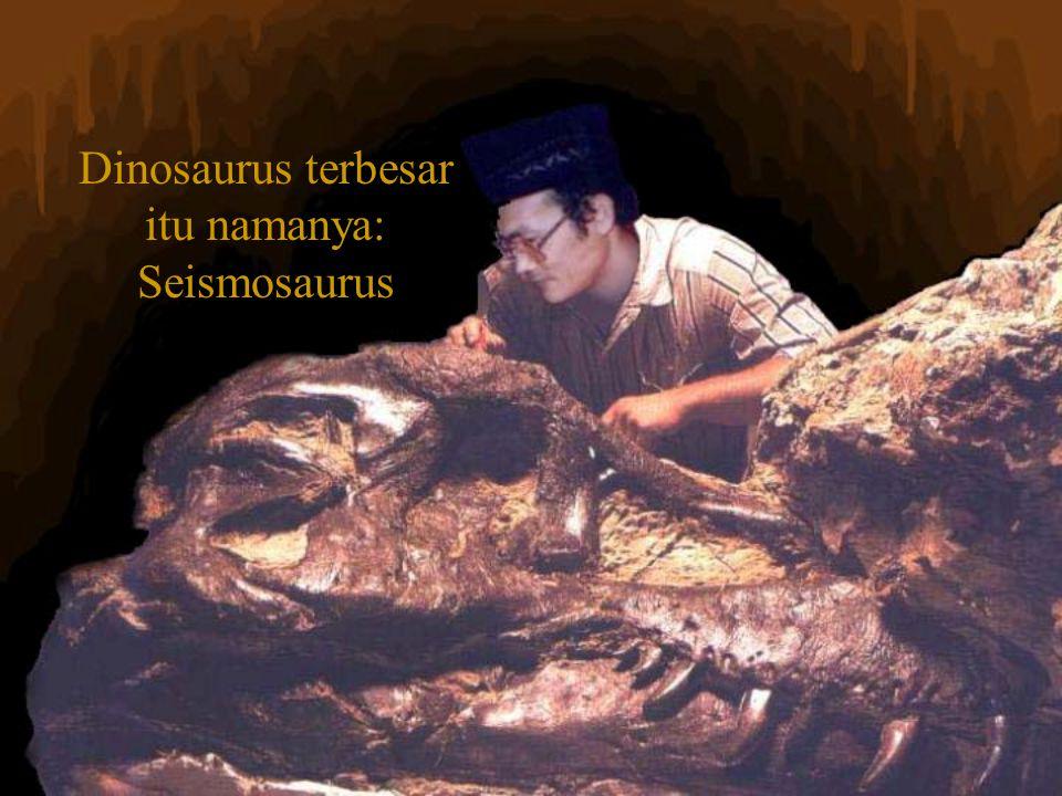 Dinosaurus terbesar itu namanya: Seismosaurus