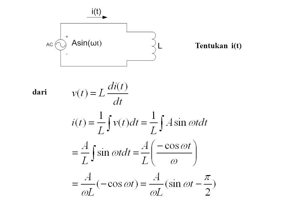 Contoh: Tentukan impedansi dalam bentuk polar untuk ω = 1/3 rad/sec Catatan: Impedansi tergantung pada frekuensi dan nilai R,L,C Bentuk Cartesian Bentuk Polar