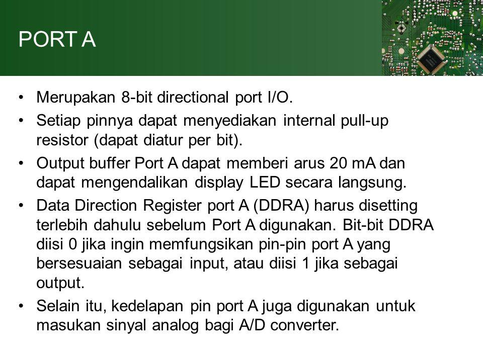 PORT B 8-bit directional port I/O.