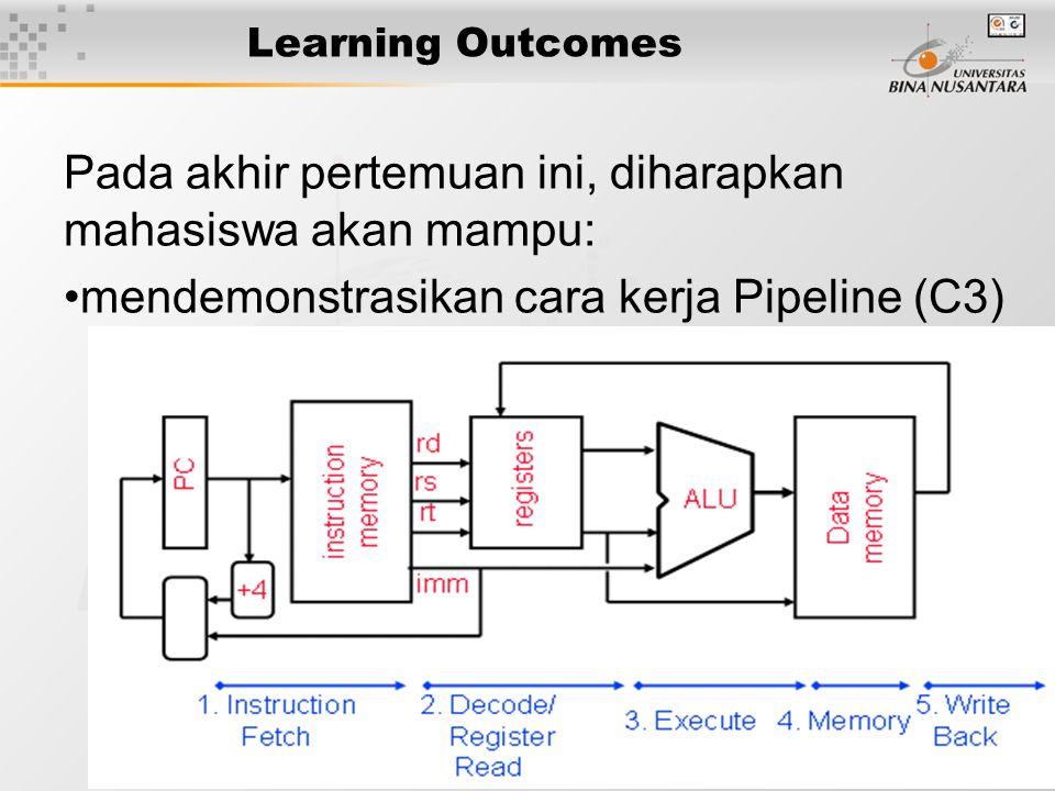 13 Control Hazards Bahaya control muncul dari hadirnya pencabangan (branch), jump, dan perubahan aliran kontrol lainnya didalam pipeline.