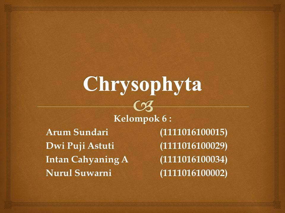 Kelompok 6 : Arum Sundari (1111016100015) Dwi Puji Astuti(1111016100029) Intan Cahyaning A(1111016100034) Nurul Suwarni (1111016100002)