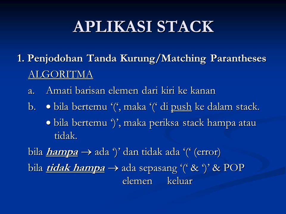 APLIKASI STACK 1.