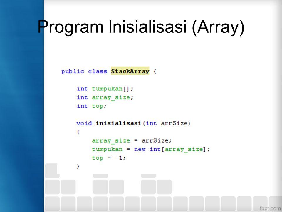 Program Inisialisasi (Array)