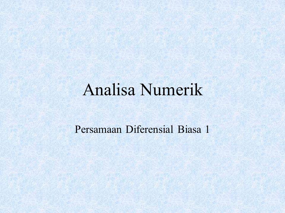 Analisa Numerik Persamaan Diferensial Biasa 1