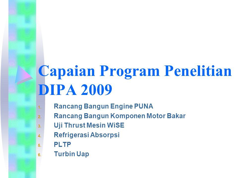 1 RB Engine Puna (1) Latar Belakang :  Mendukung TRM Rancang bangun pesawat PUNA  Produk prototipe nanti dimaksudkan sebagai mesin uji Laboratorium Propulsi yang juga dalam tahap perencanaan.