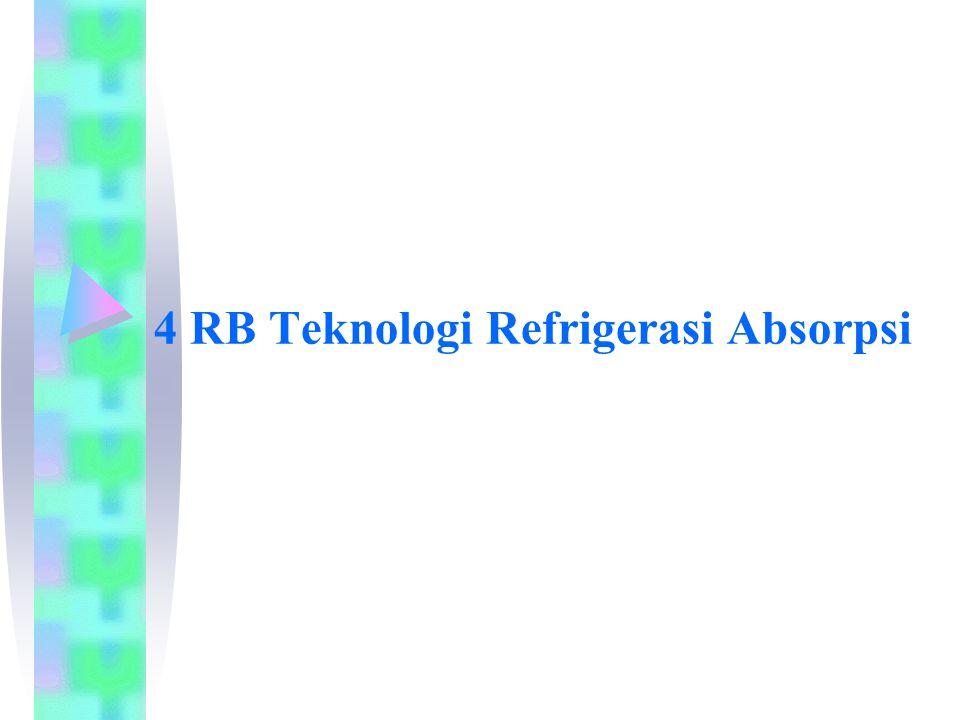 Latar Belakang:  Sistem refrigerasi absorpsi merupakan salah satu jenis peralatan yang dapat meningkatkan efisiensi pemakaian energi dengan menggunakan panas buang sebagai sumber energinya.