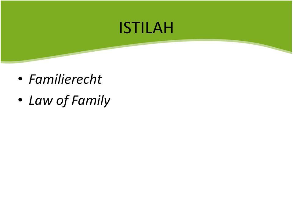 PENGERTIAN HUKUM KELUARGA Algra : Mengatur hubungan hukum yang timbul dari ikatan keluarga.