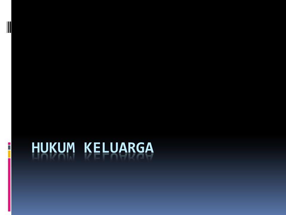 Pengertian Hukum Keluarga Adalah hubungan-hubungan hukum yang timbul dari kehidupan keluarga sedarah, akibat perkawinan dan keturunan Dalam KUHPerdata, hukum keluarga diatur dalam buku pertama tentang orang, judul dan isinya tidak sesuai dengan materi hukum perseorangan karena ternyata juga diatur matri hukum kekeluargaan.