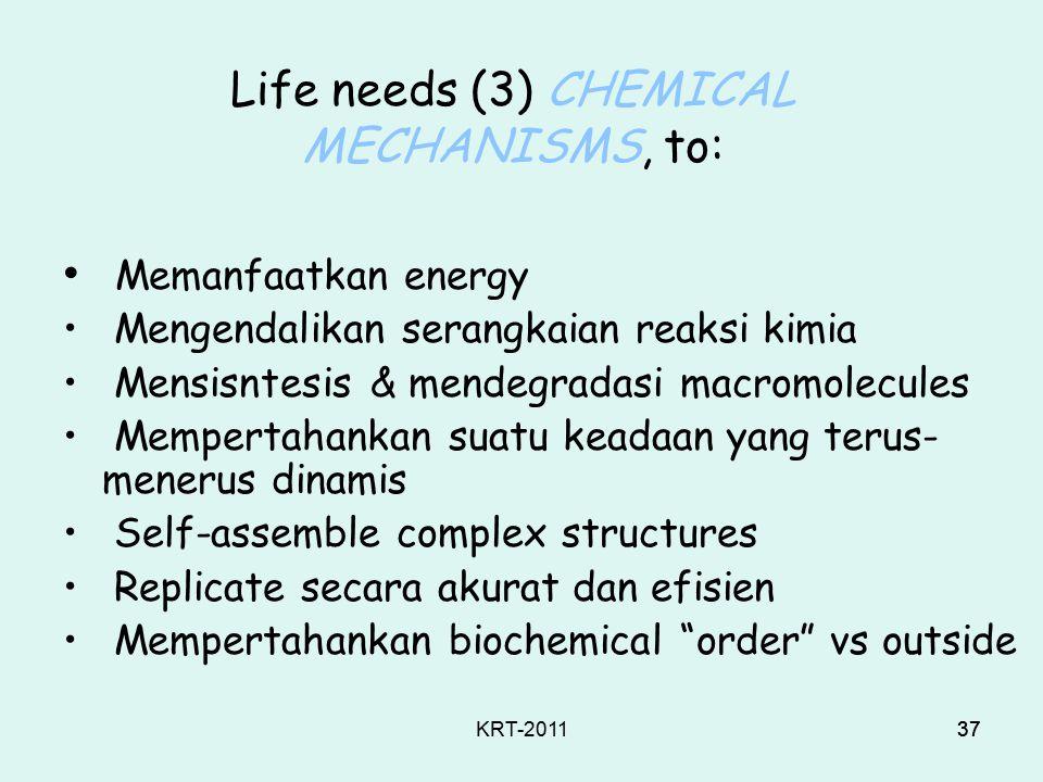 KRT-201136 Life needs (2) SIMPLE MOLECULES, yang harus diketahui bagaimana: Convert Polymerize Degrade