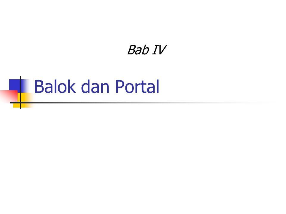 Balok dan Portal Bab IV