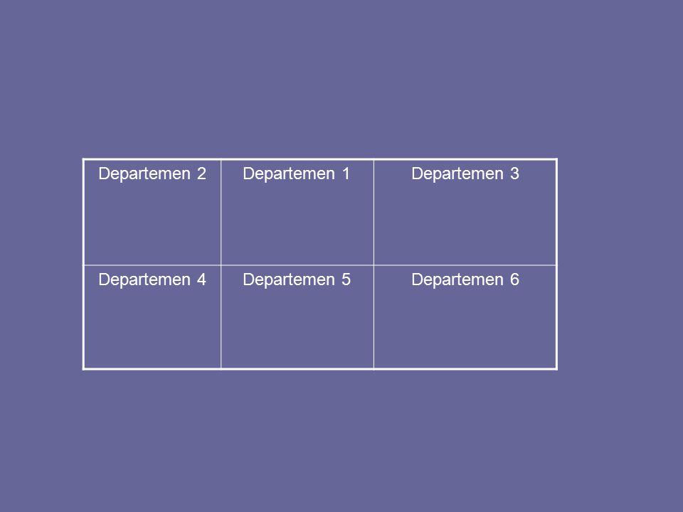 Departemen 2Departemen 1Departemen 3 Departemen 4Departemen 5Departemen 6