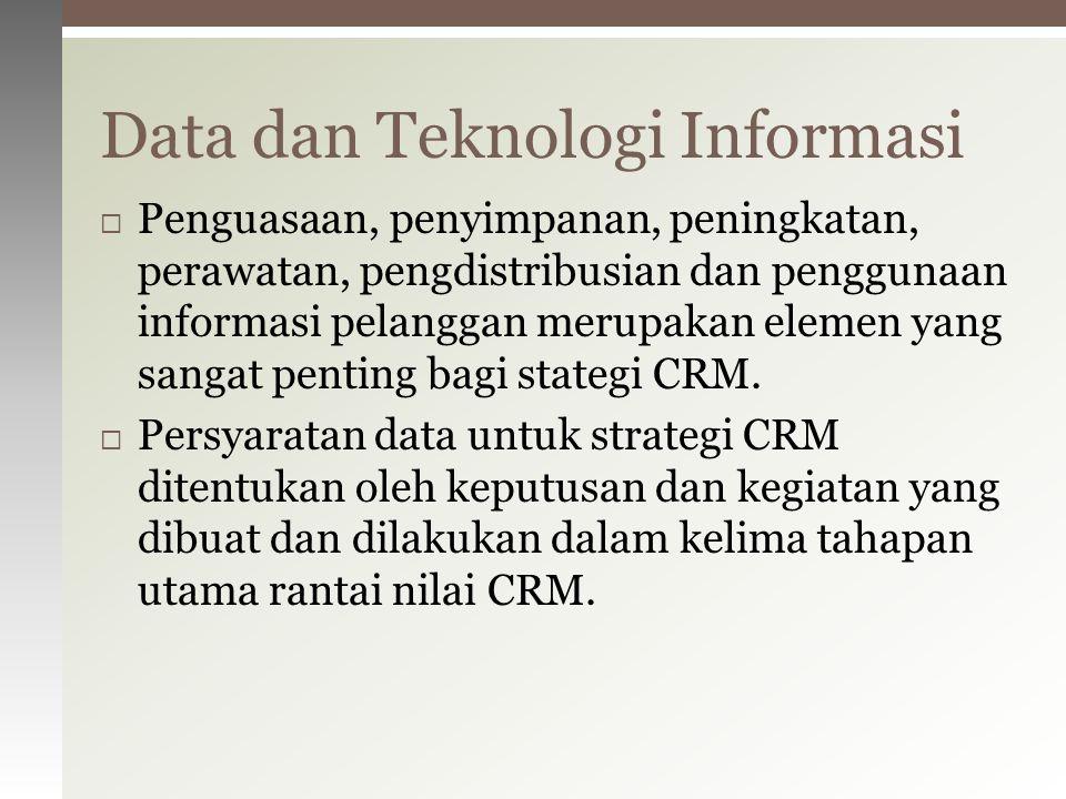  Penguasaan, penyimpanan, peningkatan, perawatan, pengdistribusian dan penggunaan informasi pelanggan merupakan elemen yang sangat penting bagi state
