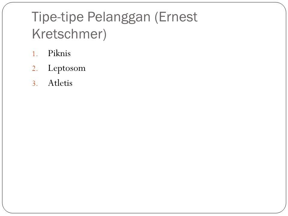 Tipe-tipe Pelanggan (Ernest Kretschmer) 1. Piknis 2. Leptosom 3. Atletis