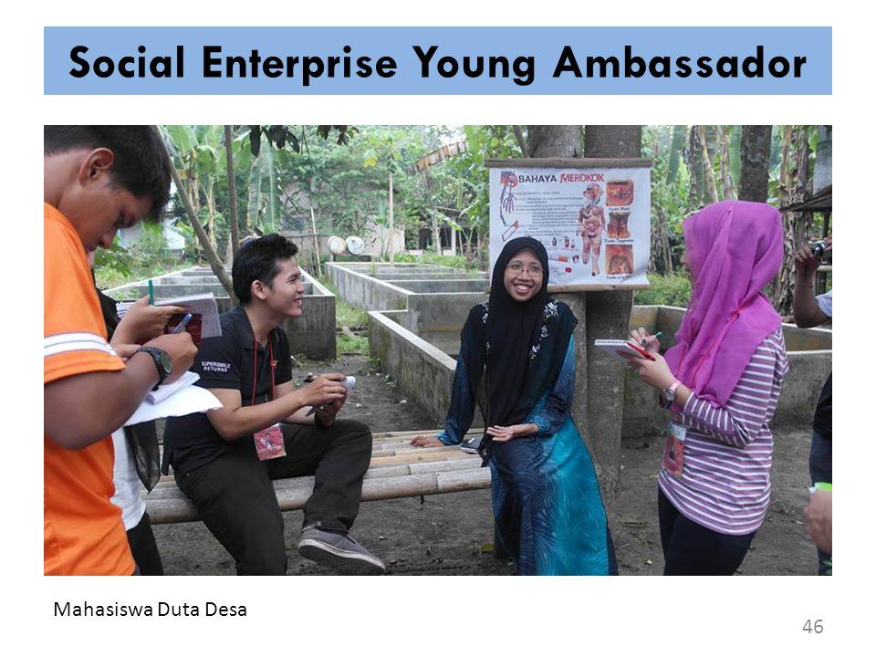 Social Enterprise Young Ambassador 46 Mahasiswa Duta Desa