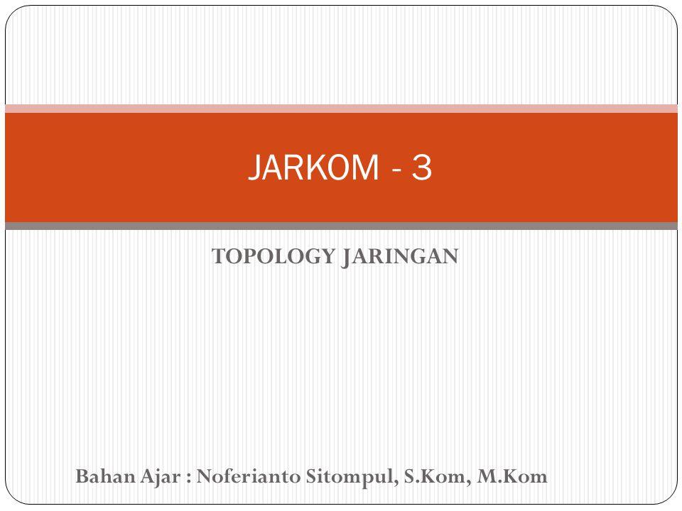 Bahan Ajar : Noferianto Sitompul, S.Kom, M.Kom TOPOLOGY JARINGAN JARKOM - 3