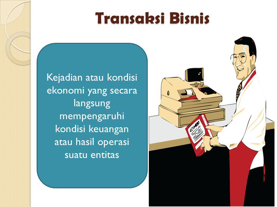 Kejadian atau kondisi ekonomi yang secara langsung mempengaruhi kondisi keuangan atau hasil operasi suatu entitas Transaksi Bisnis