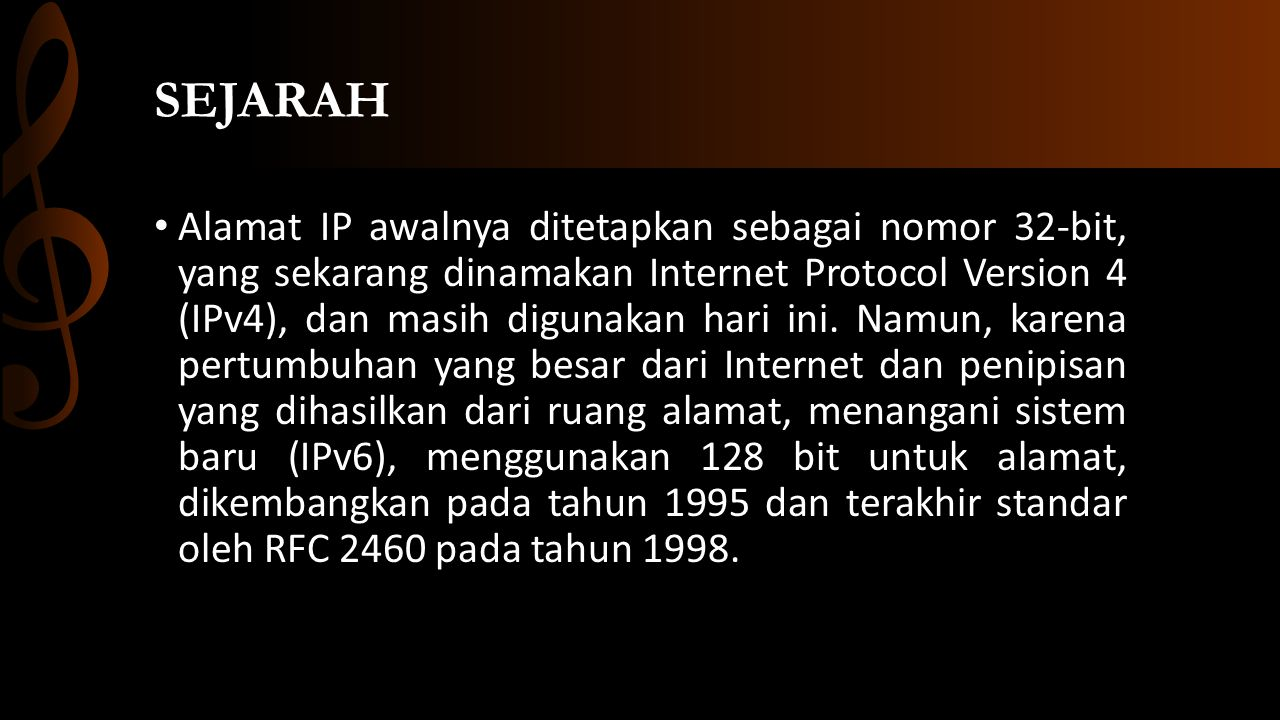 Jenis-Jenis IP IP Public, ini adalah Internet Assigned Numbers Authority (IANA) terdaftar alamat yang terlihat di Internet.