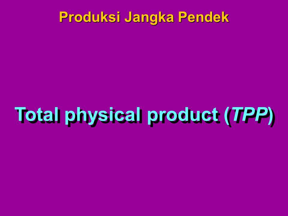 Total physical product (TPP) Produksi Jangka Pendek