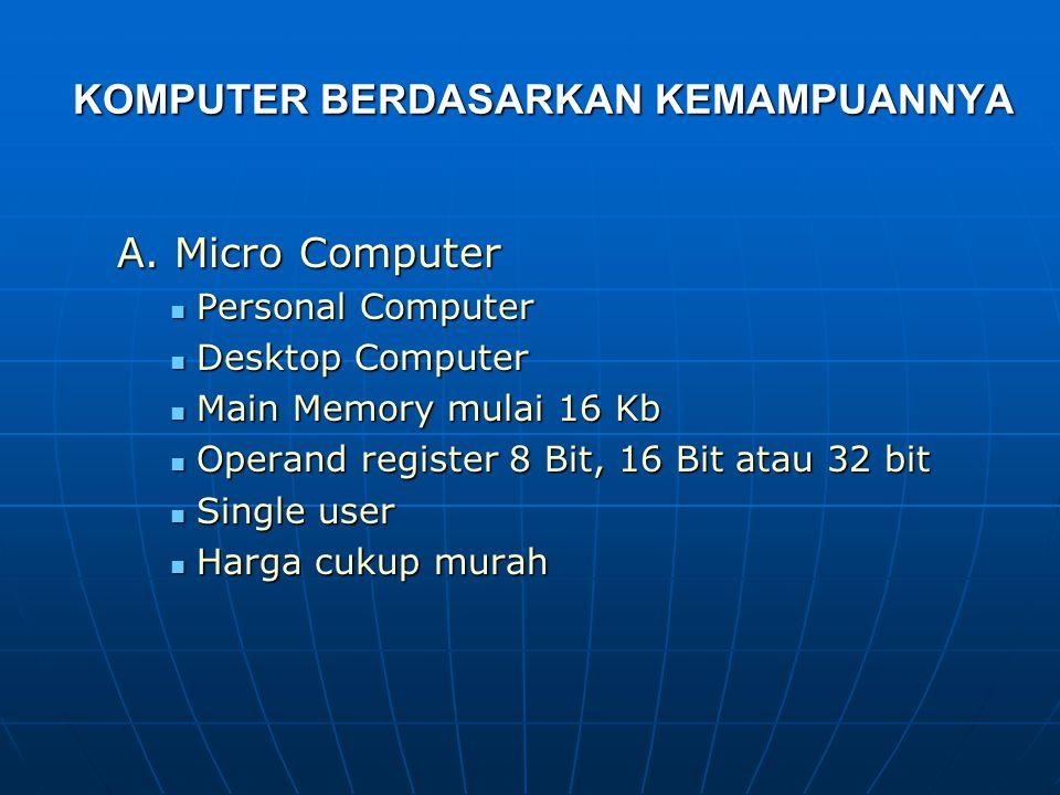 Komputer Generasi Keempat Komputer Generasi Keempat  Menggunakan Large Scale Integration (LSI) = Bipolar Large Scale Integration yang berbentuk chip