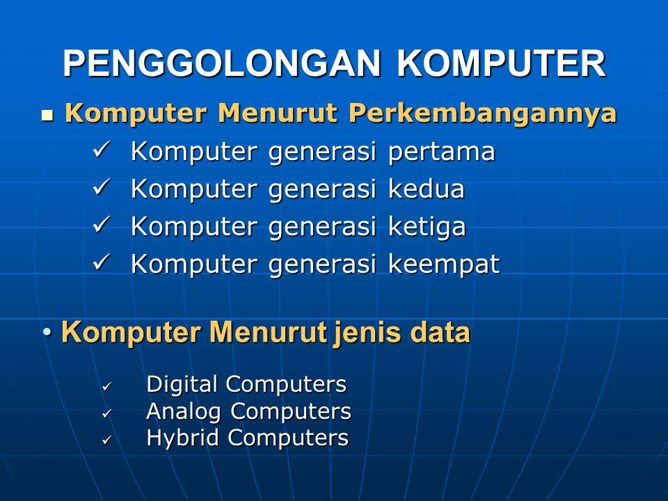 Bentuk phisik besar Bentuk phisik besar Main memory 8 MB sd 512 MB Main memory 8 MB sd 512 MB Bisa menggunakan system time sharing Bisa menggunakan sy