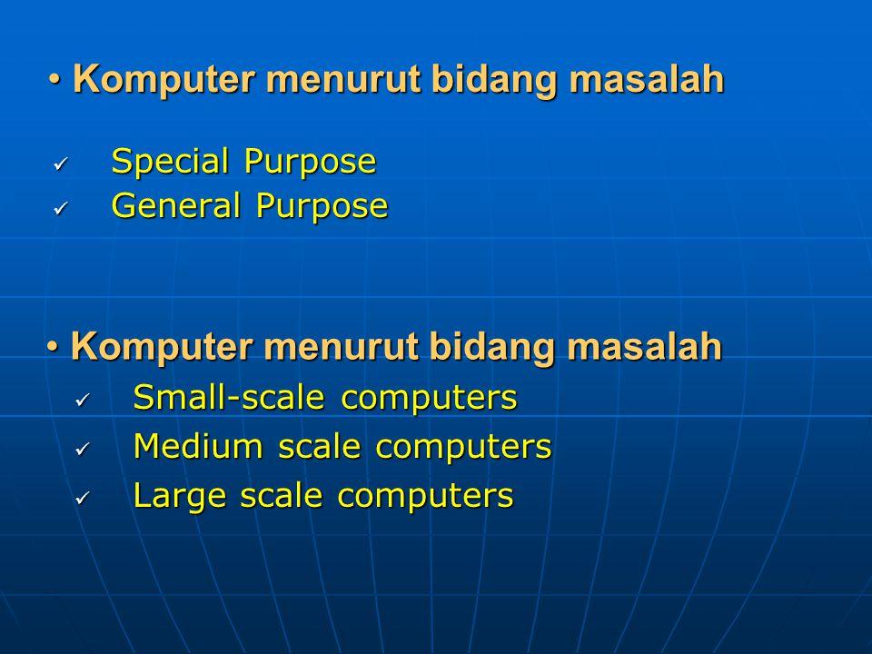 PENGGOLONGAN KOMPUTER Komputer Menurut Perkembangannya Komputer Menurut Perkembangannya Komputer generasi pertama Komputer generasi pertama Komputer g