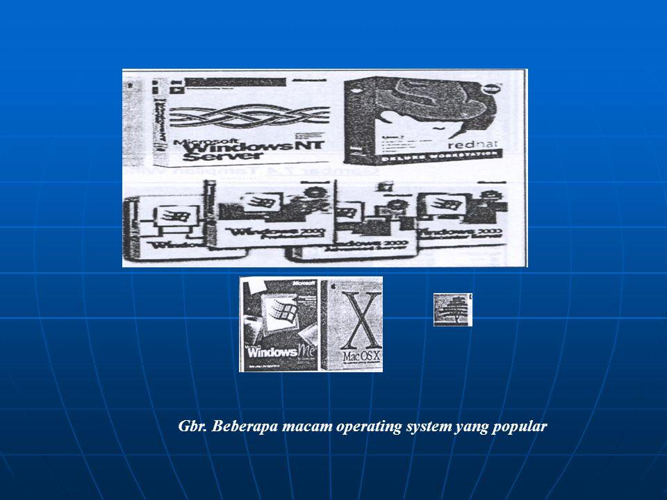 SOFTWARE Perangkat Lunak Sistem (System Sotware) Perangkat Lunak Aplikasi (Application Software)  Sistem Operasi (OS) o Windows 95, 98, ME, Xp o Wind