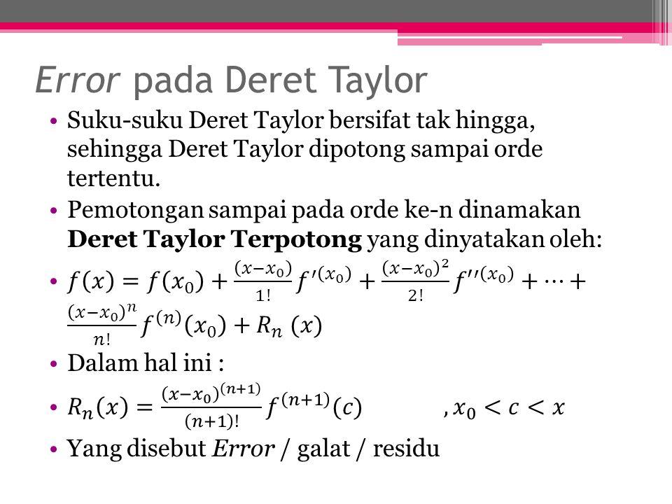 Error pada Deret Taylor