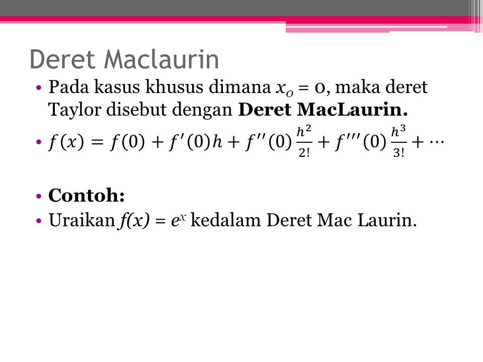 Deret Maclaurin