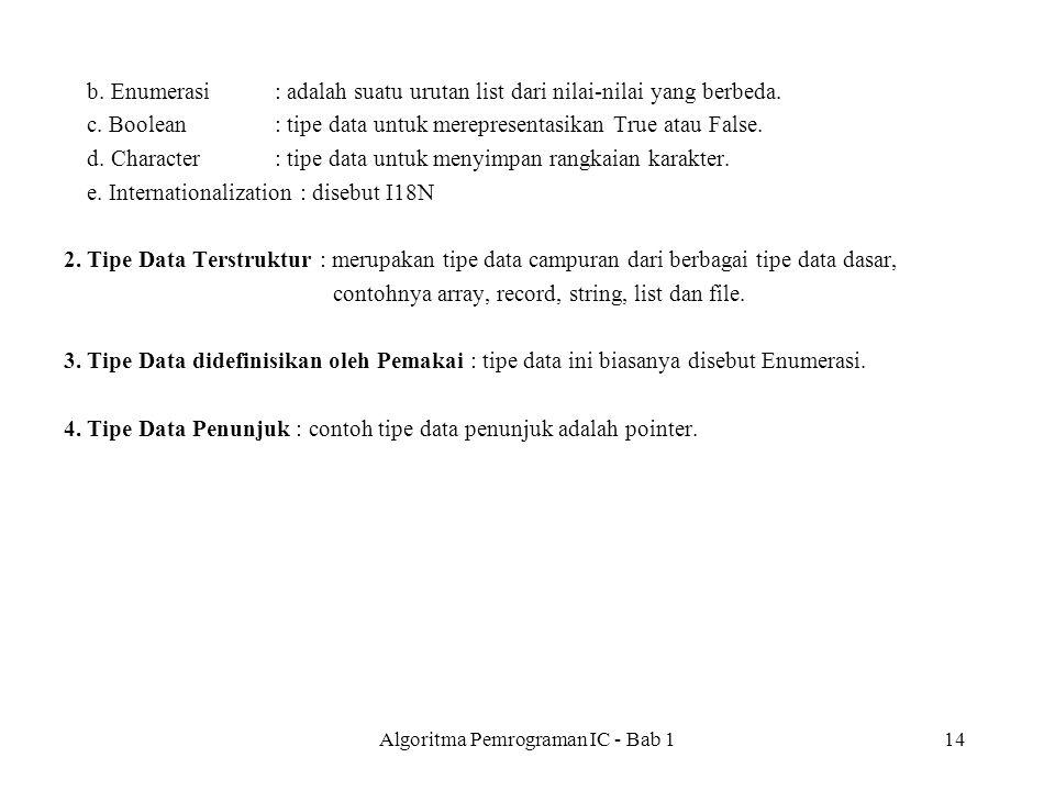 Algoritma Pemrograman IC - Bab 114 b.