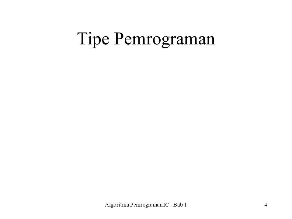 Tipe Pemrograman Algoritma Pemrograman IC - Bab 14