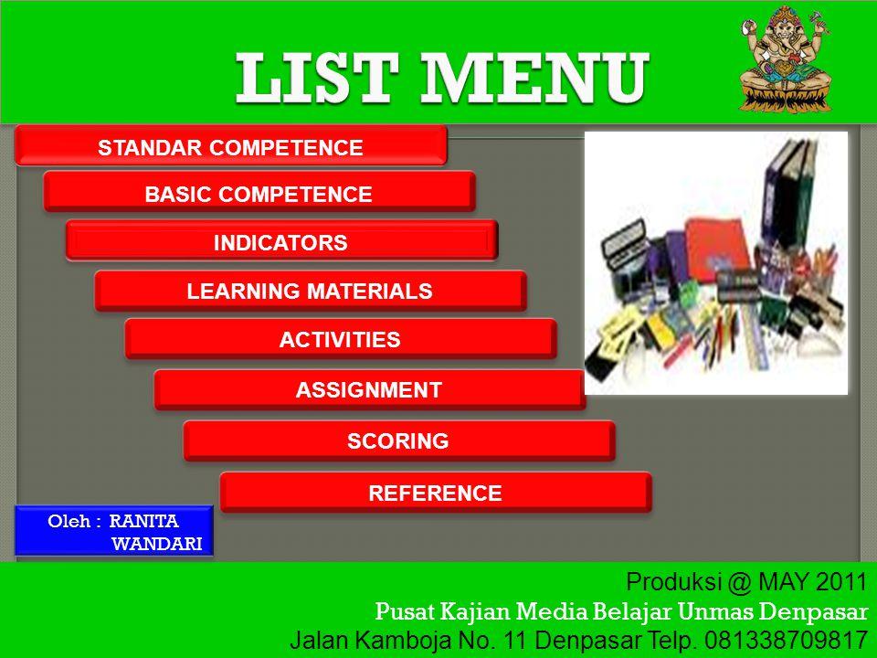  Mengungkapkan instruksi dan informasi sangat sederhana dalam konteks sekitar peserta didik.