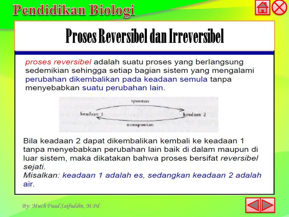 Proses Reversibel dan Irreversibel By: Much Fuad Saifuddin, M.Pd