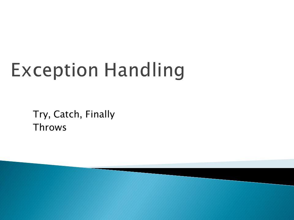 Apa itu Exception.