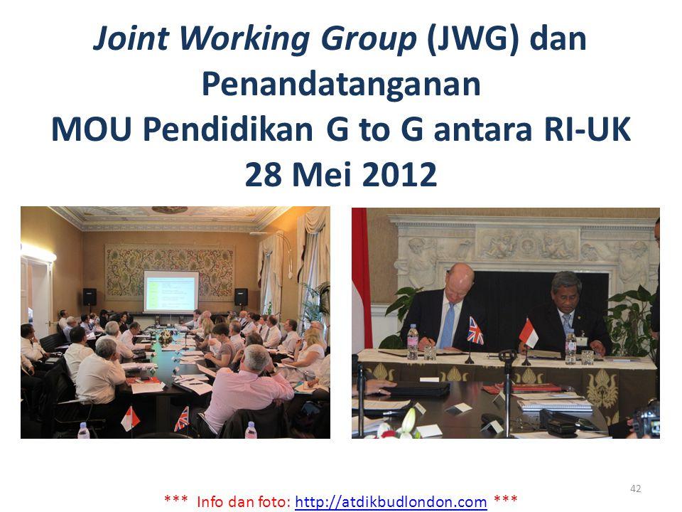 Joint Working Group (JWG) dan Penandatanganan MOU Pendidikan G to G antara RI-UK 28 Mei 2012 *** Info dan foto: http://atdikbudlondon.com ***http://at