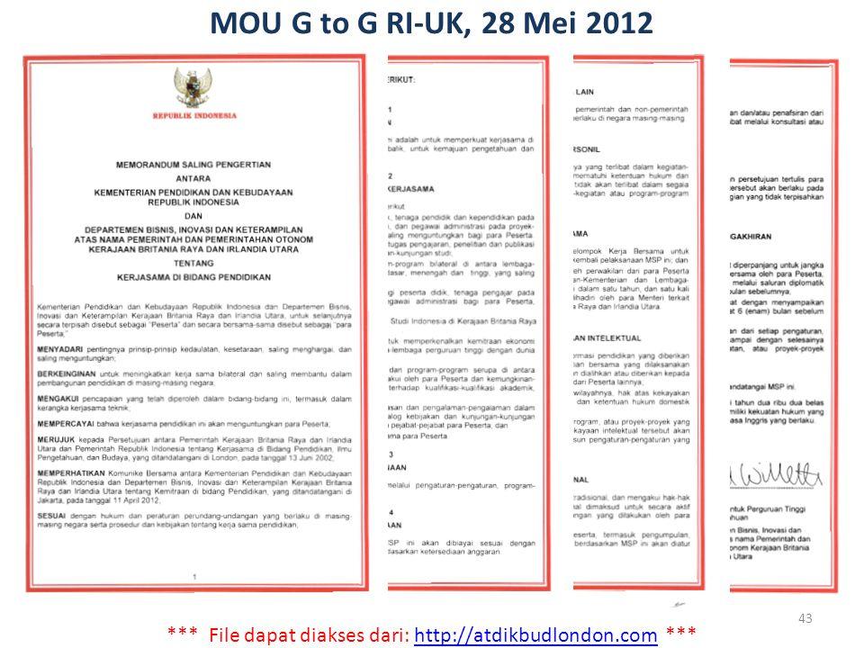 *** File dapat diakses dari: http://atdikbudlondon.com ***http://atdikbudlondon.com MOU G to G RI-UK, 28 Mei 2012 43