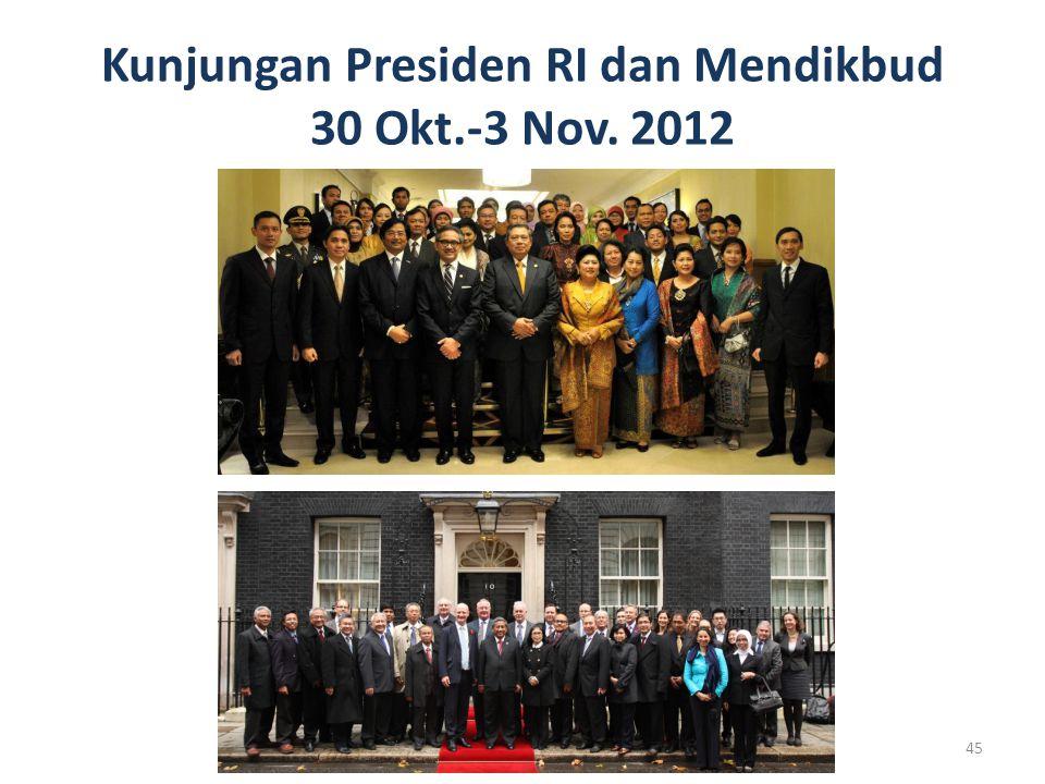 Kunjungan Presiden RI dan Mendikbud 30 Okt.-3 Nov. 2012 45