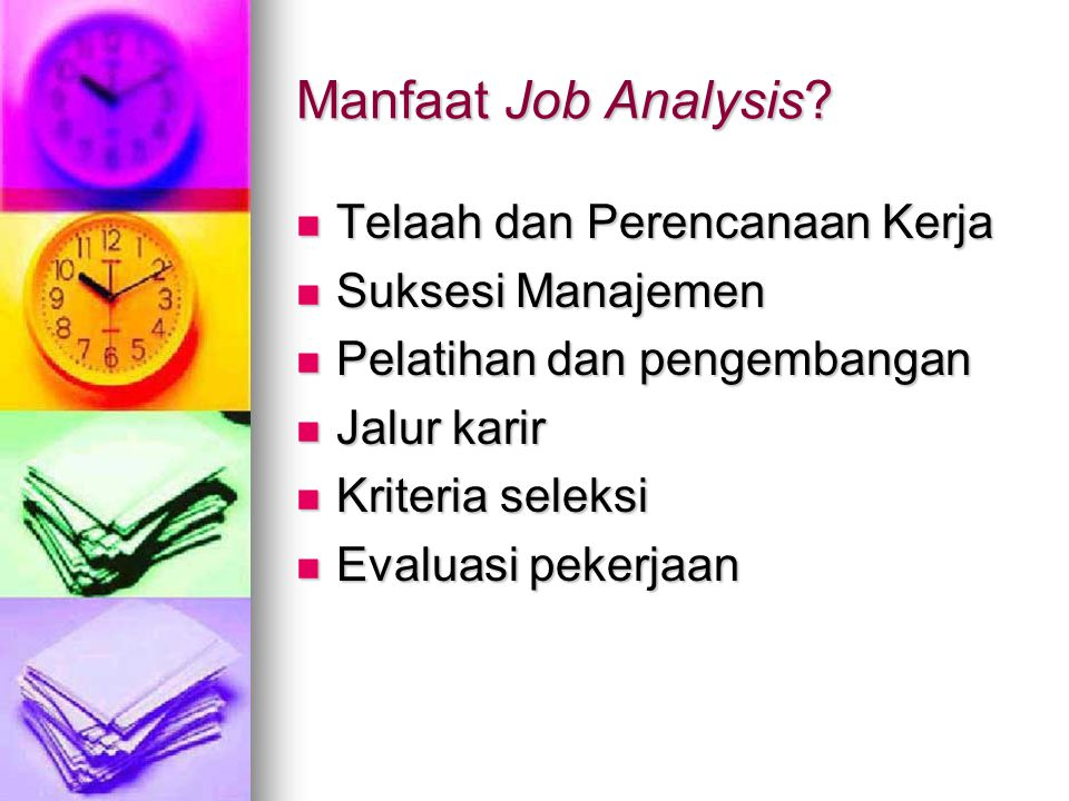 Manfaat Job Analysis.
