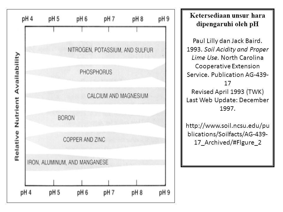 Pengaruh Fisik: - Membantu granulasi - agregasi - Memperbaiki struktur tanah - Tata Udara (Aerasi) - Tata Air / Pergerakan air Ketersediaan unsur hara dipengaruhi oleh pH Paul Lilly dan Jack Baird.