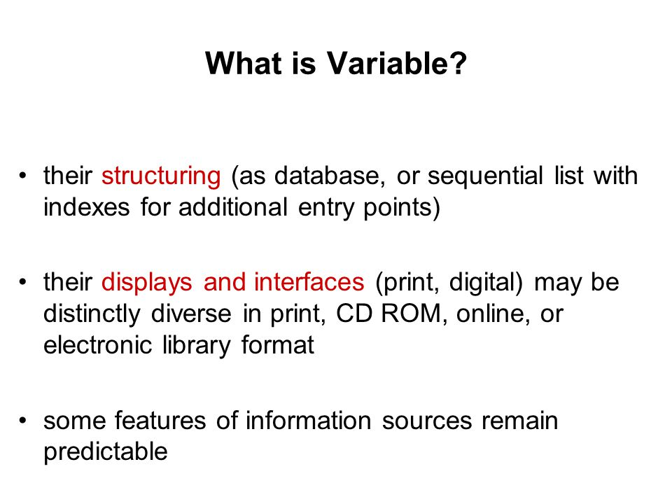 What is Variable.