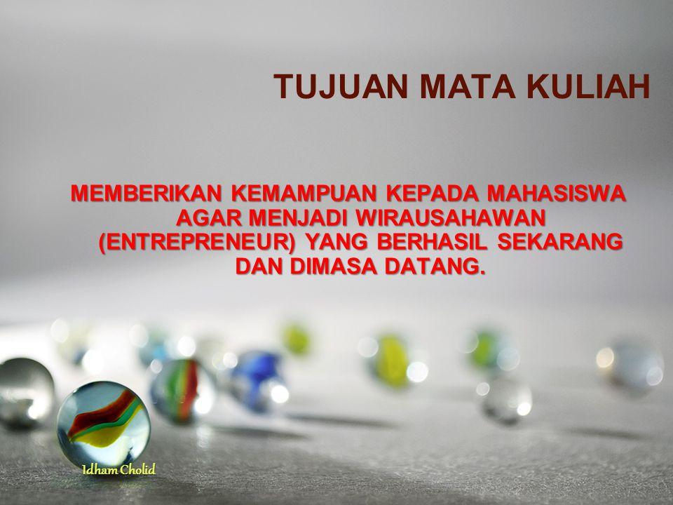 Idham Cholid Apa yg menyebabkan jumlah entrepreneur di Indonesia sangat kecil?