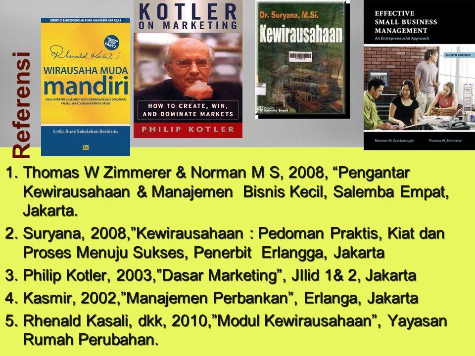 """Idham Cholid 1.Thomas W Zimmerer & Norman M S, 2008, """"Pengantar Kewirausahaan & Manajemen Bisnis Kecil, Salemba Empat, Jakarta. 2.Suryana, 2008,""""Kewir"""