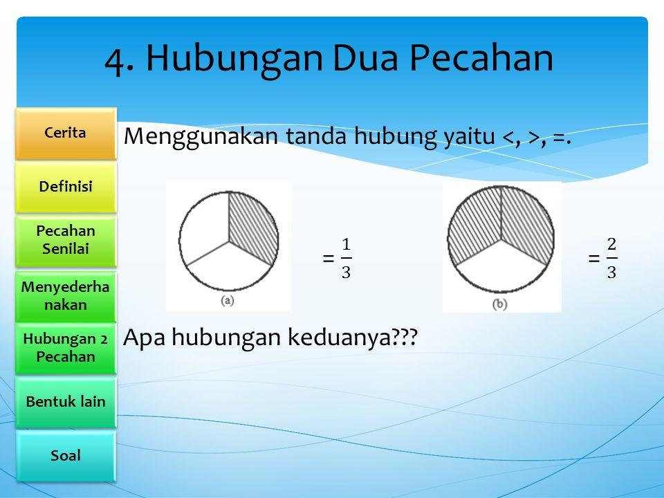 4. Hubungan Dua Pecahan