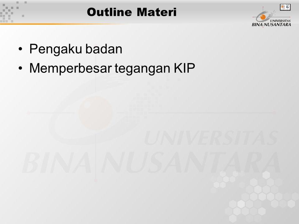 Outline Materi Pengaku badan Memperbesar tegangan KIP