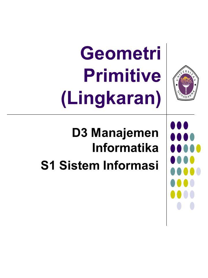 Geometri Primitive (Lingkaran) D3 Manajemen Informatika S1 Sistem Informasi