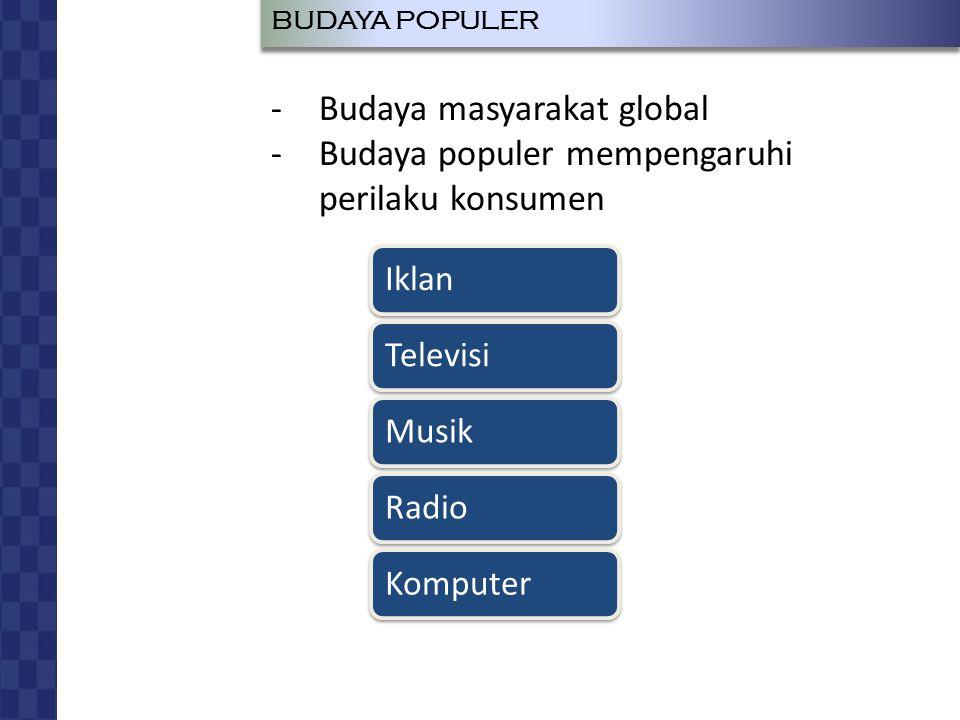 JOHAN LUKAS LEO RUMAPEA RADIUS SIAGIAN BUDAYA DAN PERILAKU KONSUMEN BUDAYA POPULER IklanTelevisiMusikRadioKomputer -Budaya masyarakat global -Budaya populer mempengaruhi perilaku konsumen