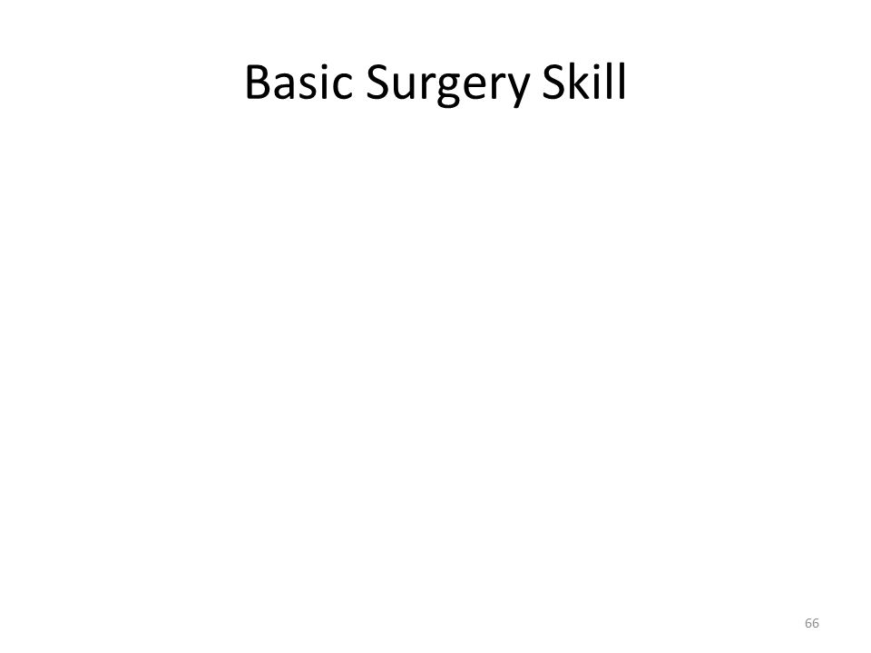 Basic Surgery Skill 66